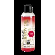 Luxury Body Oil edible съедобное масло с ароматом Клубники 100 мл.