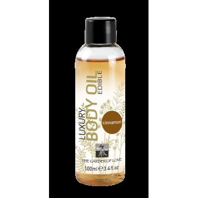 Luxury Body Oil edible съедобное масло с ароматом Корицы 100 мл.
