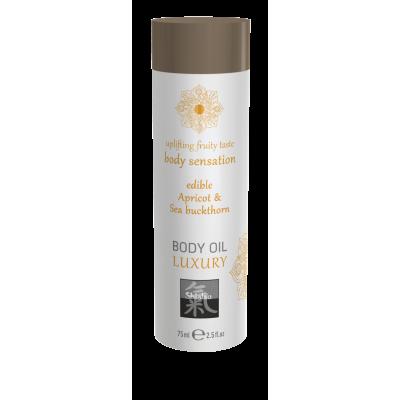Съедобное масло для тела - Абрикос & Облепиха 75мл.