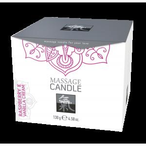 Массажная свечка с ароматом Малина & Ванильный. 130 гр.
